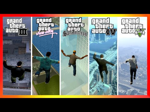 Jumping From The Highest Points In GTA Games (2001-2020)