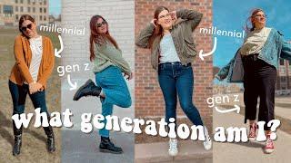 Trying on Gen Z vs Millennial's Fashion | What generation am I?