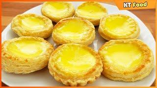 Egg Tart Dim Sum - Bánh Trứng Nướng - Cách Làm Cấp Tốc Thơm Ngon Không Cần Nhồi Bột - Food Hack