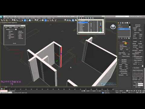 3ds Max Modelling a Complete Apartment Part 1