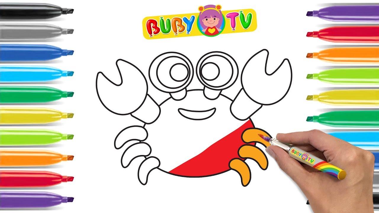 come disegnare un granchio disegni animati pesci per