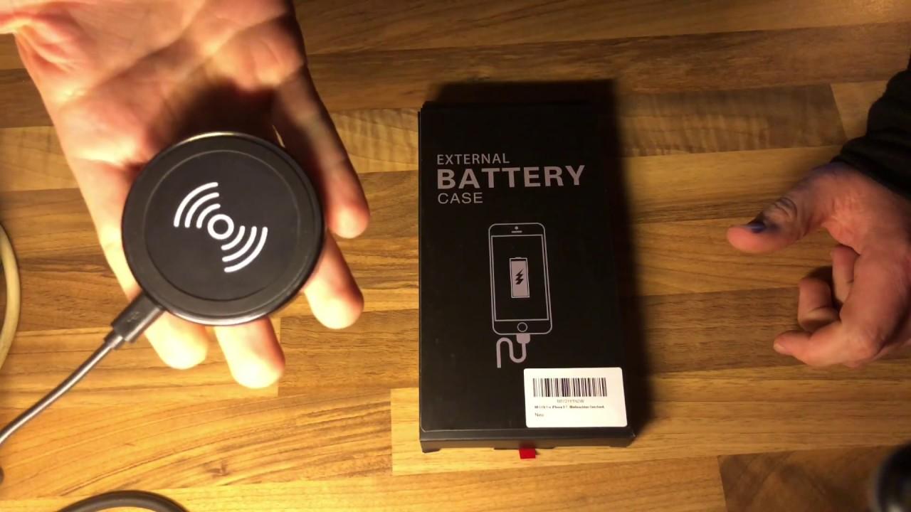 batterie case weluv f r apple iphone 8 7 6 6s akku h lle. Black Bedroom Furniture Sets. Home Design Ideas