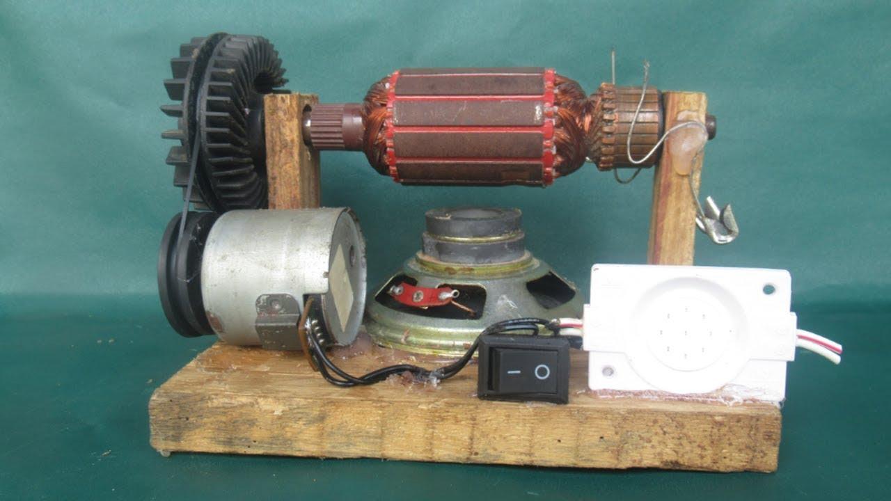 созданию фото сделать генератор из двигателя от магнитофона федченков любил