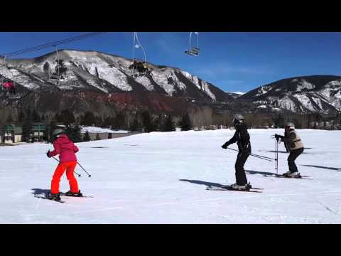 Esquiando en Aspen, Colorado