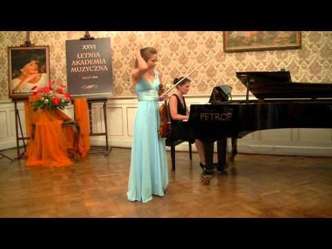 ZAGAN LAM 2014 - P. Czajkowski Koncert skrzypcowy D-dur op. 35 cz. I, Amelia Maszońska – skrzypce
