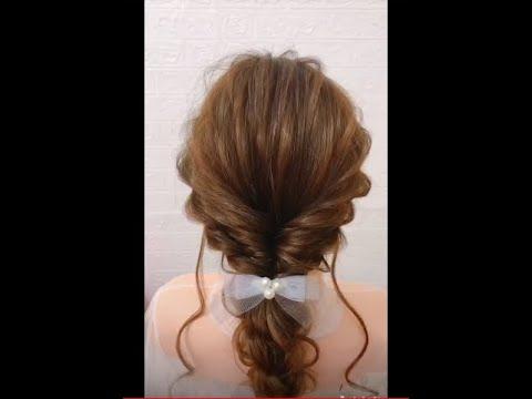 Hướng dẫn tết tóc cô dâu hoặc đi dự tiệc đơn giản/ Bridal hairstyle