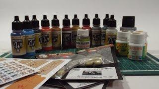 Обзор посылки краски Vallejo Model Air, Game Air, Metal Color, металлики ХОМА, коробки, аксессуары