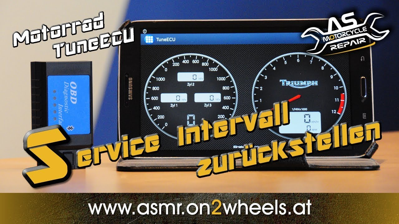 MOTORCYCLE SERVICE DISPLAY RESET WITH TuneECU
