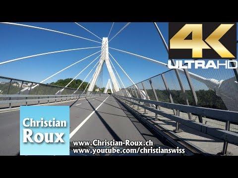 1X UHD - Switzerland 306 (Camera on board): Fribourg - Basse-Ville & Pont de la Poya (Hero4)