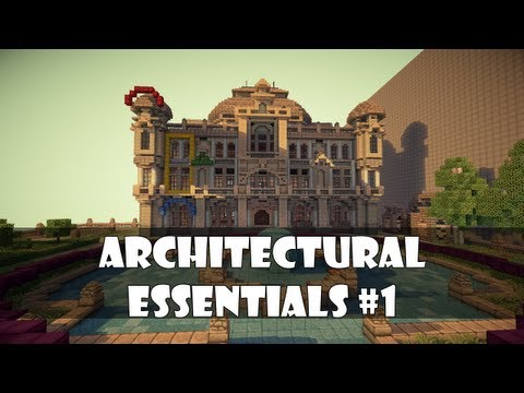 Minecraft Architectural Essentials Ep. 1 : Shapes and Lines