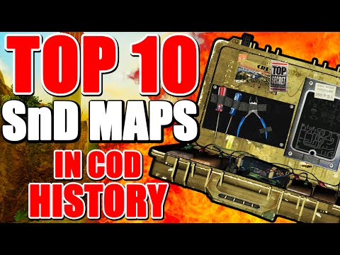 "Top 10 ""BEST SEARCH and DESTROY MAPS"" in COD HISTORY (Top 10 - Top Ten)"