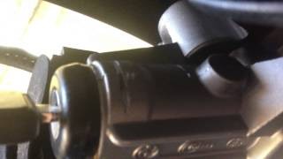 Bmw E36 93 Replacing ignition shaft and Removing Tumbler with axe saw