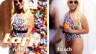 Beachwear-FAIL! Badeanzug falsch anziehen und sich beim Hersteller beschweren! | taff | ProSieben