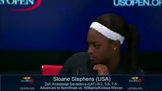 Tennis Player Sloane Stephens Swats Fly, Falls Off Chair