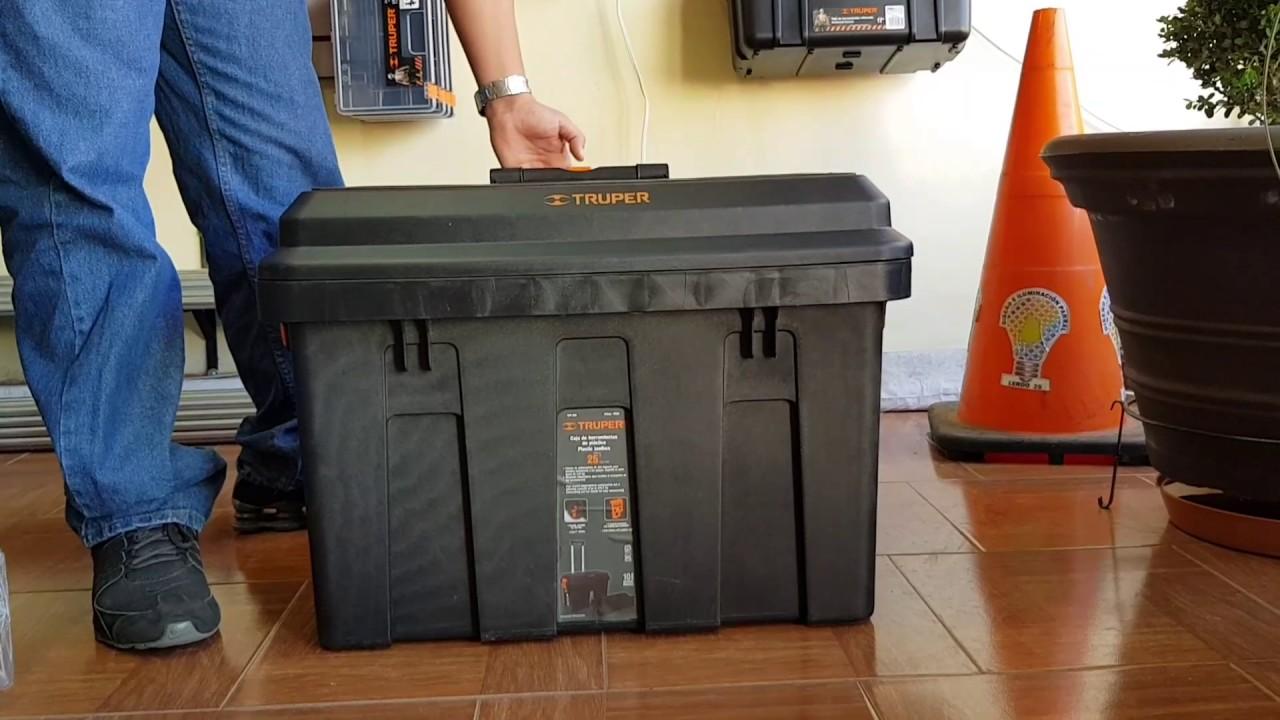 Caja para herramienta 25 con ruedas y mango met lico - Caja herramientas con ruedas ...