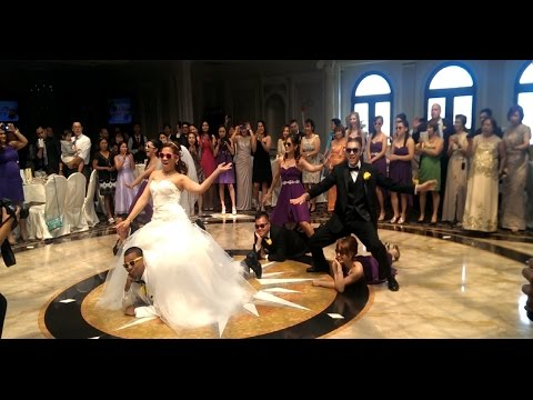 Must see epic surprise wedding first dance Psy Gangnam Style Too Legit Too Quit remix
