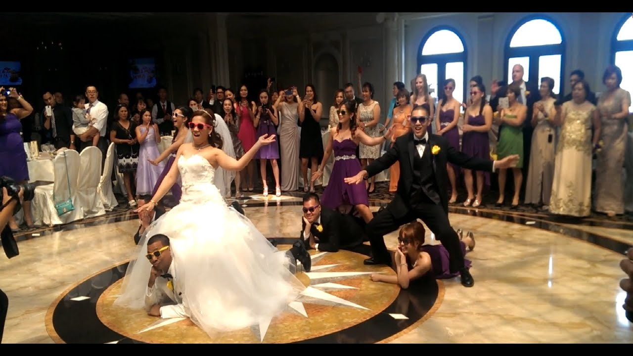 Must See Epic Surprise Wedding First Dance Psy Gangnam Style Too Legit Quit Remix