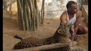 Prakash Amte with his Pet Leopard and Lion