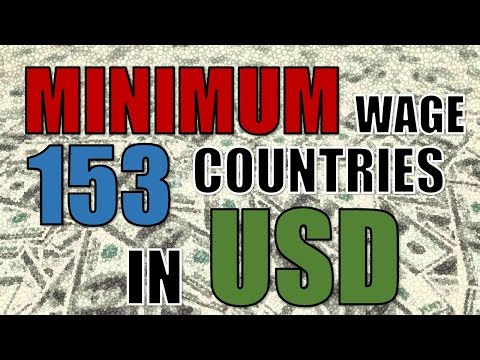 COUNTRIES with the HIGHEST & LOWEST minimum wage in 2016