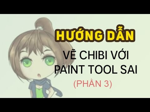 PaintTool SAI – Bài 3: Hướng dẫn vẽ chibi (phần 3)