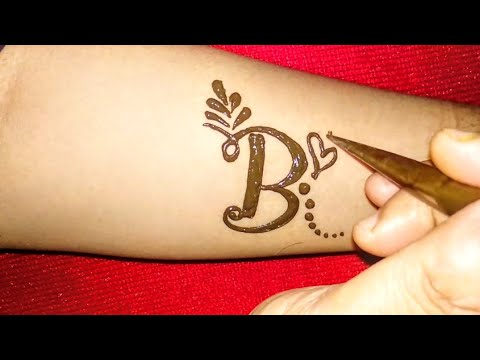 alphabet 39 b 39 letter henna tattoo design fancy b letter mehndi design youtube. Black Bedroom Furniture Sets. Home Design Ideas