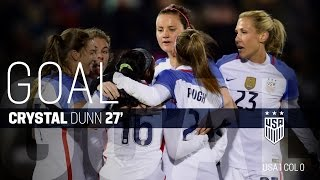 WNT vs. Colombia: Crystal Dunn Goal - April 6, 2016