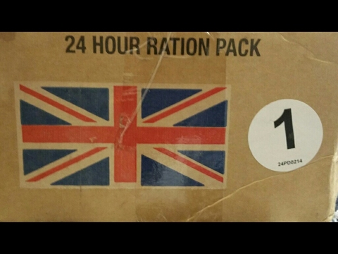 ✔Royal Army 24hr Ration Pack #1 (British MRE) Review (German Language) / Englisches EPA