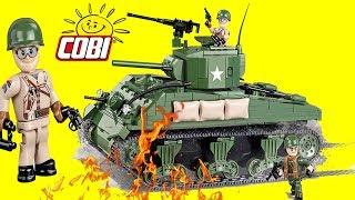 Cobi Sherman M4A1 World War II Tank, Army Toys, Building Blocks Tank, Lego Compatible Tank, Battle
