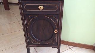 Marcenaria Artesanal - Restauração De Criado Mudo Antigo - Restoration Created Wooden Nightstand