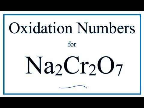 How to find the Oxidation Number for Cr in Na2Cr2O7 (Sodium