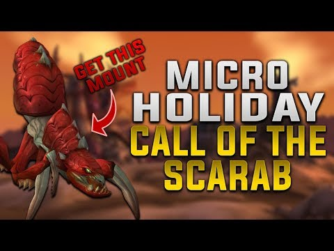 Call of the Scarab Micro Holiday Guide | World of Warcraft Qiraji Mounts