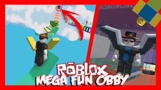 PASSING ALL THE MEGA FUN OBBY!! ROBLOX LATIN ENGLISH