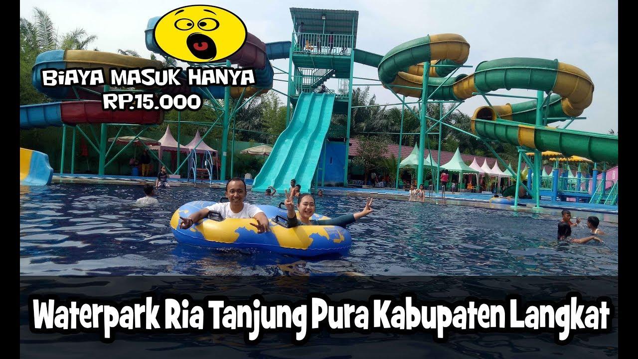 Waterpark Ria Tanjung Pura Wisata Baru di Langkat, Murah dan Seru Banyak  Wahananya