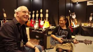 13 year old girl shredder Lisa-X meets Paul Reed Smith in Tokyo