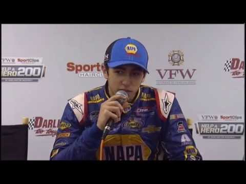 Chase Elliott Winner VFW 200 at Darlington Raceway Interview NASCAR Video