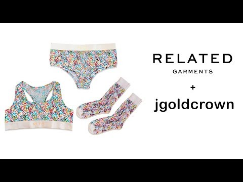 Limited Edition James Goldcrown Bralette and Boyshort Matching Underwear Set