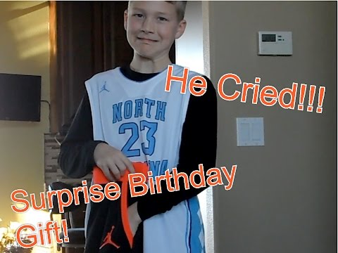Surprising My Little Brother With Best Birthday Gift Ever He Cried