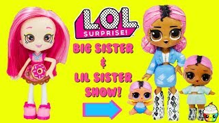 LOL Surprise DIY Big Sister Show Jet Set QT Big Sister & Lil Sister Custom Makeover