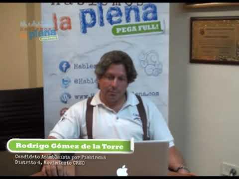 Hablemos la Plena • Twitcam • Rodrigo Gomez de la Torre • Creo • Candidato Asambleísta