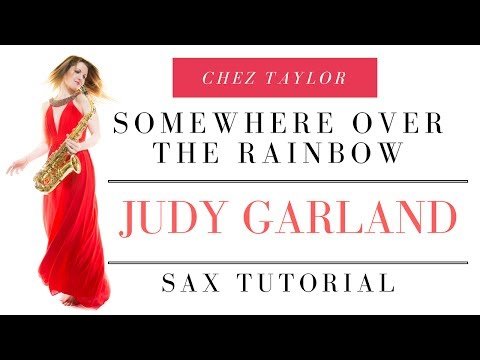 Somewhere over the rainbow. Beginner. Easy. How to play 🎶  saxophone lessons / tutorials