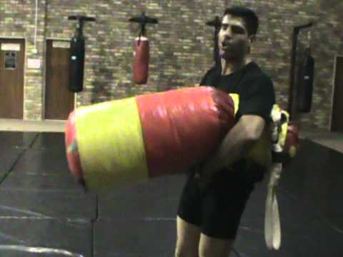 bag throws/guillotine/clinch/grappling conditioning