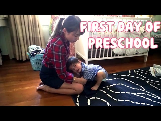 Fighter's first day of preschool