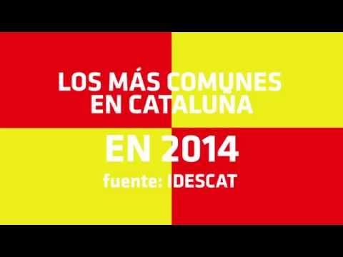 Ocho Apellidos Catalanes - Top 8 apellidos más comunes en Cataluña 2014