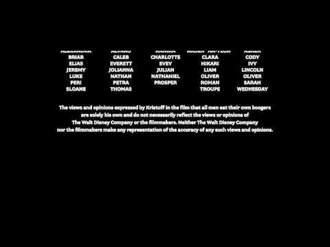 Frozen - Kristoff disclaimer