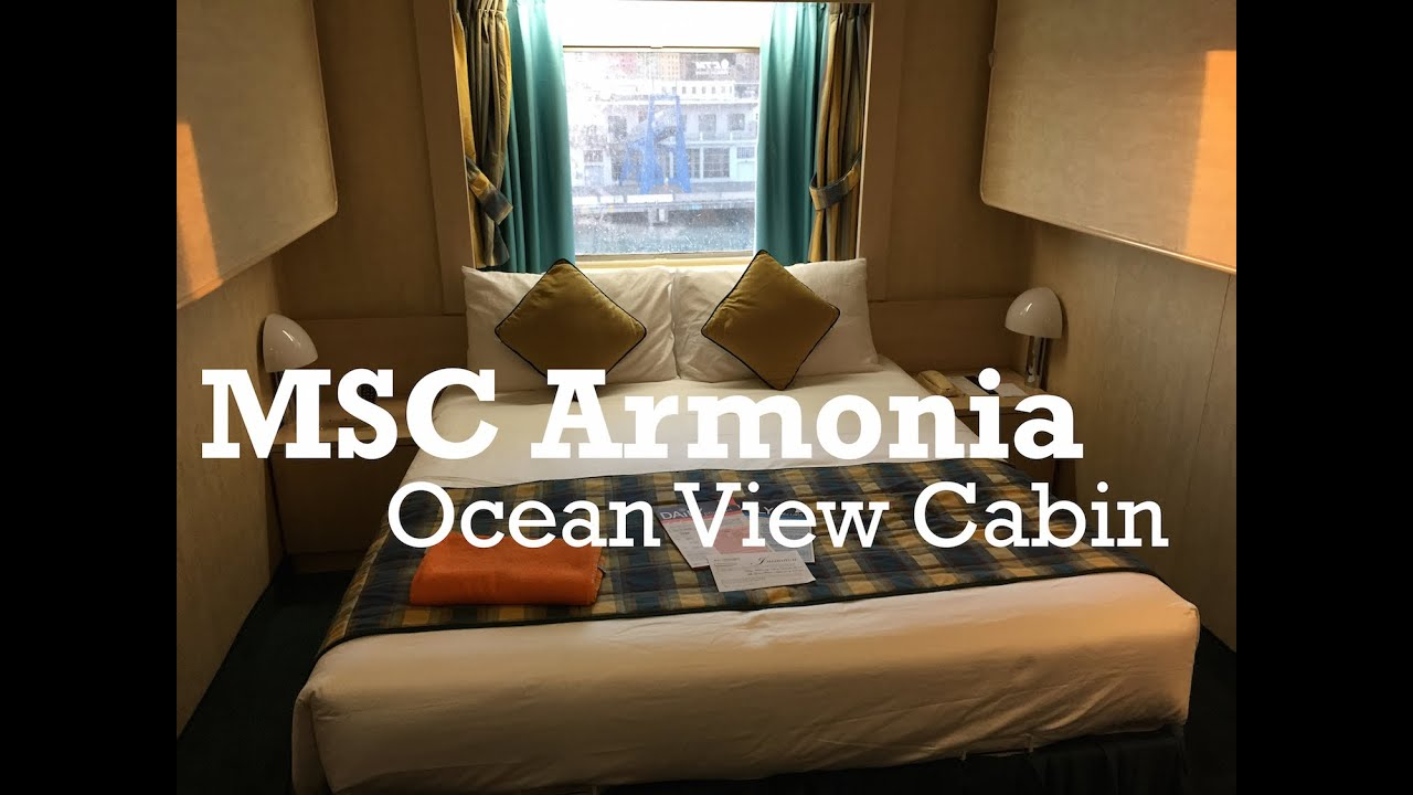 Msc Armonia Ocean View Cabin Msc Cruises Youtube