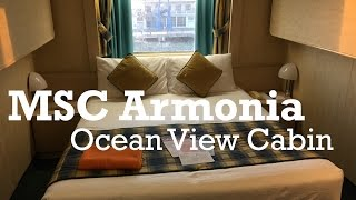 Video your of an Ocean View Cabin on board MSC Cruises MSC Armonia ...