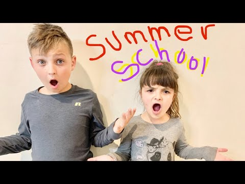MOM takes the KIDS to SCHOOL in the SUMMER!