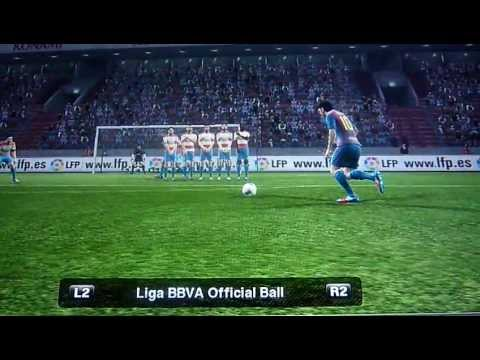 Gol de tiro libre. Messi. PES 2012 PS3