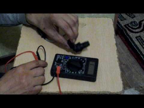 Как проверить датчик коленвала мультиметром видео
