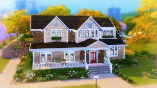 PEACHY SUBURBAN // The Sims 4 Speed Build